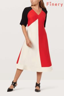Finery London Multi Astrid Colourblock Dress