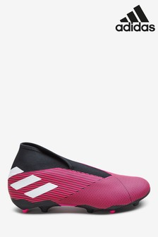 adidas Pink Hardwired Nemeziz Laceless Firm Ground Football Boots