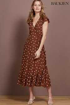 Baukjen Brown Genevieve Wrap Dress