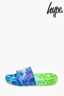 Hype. Blue Pool Fade Kids Sliders