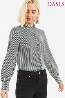 db6bd9f6861a50 Oasis Black Pie Crust Stripe Shirt