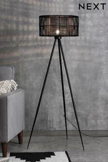 Kai Rattan Tripod Floor Lamp