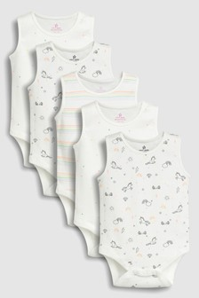 Unicorn Vests Five Pack (0mths-2yrs)