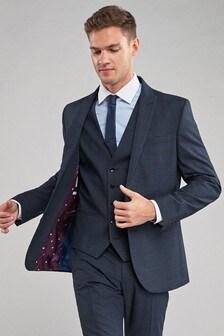 Slim Fit Check Suit