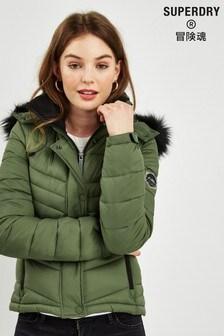 Superdry Green Fuji Coat