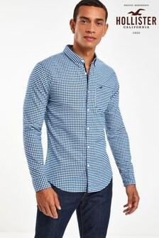 Hollister Blue Windowpane Check Shirt