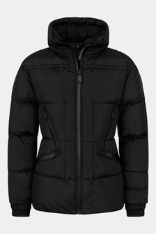 Girls Black Down Padded Dixence Ski Jacket