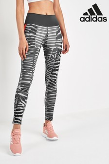 adidas Grey Animal Print High Rise Leggings