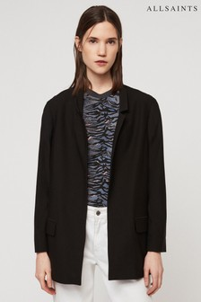 All Saints Black Aida Blazer