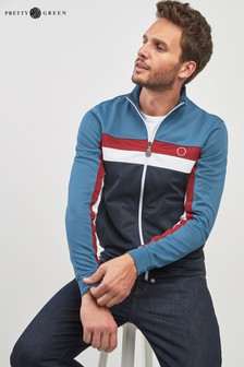 Pretty Green Blue Fielding Track Top