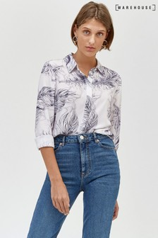 Warehouse Feather Print Shirt