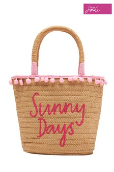 Joules Natural Carrie Straw Beach Bag