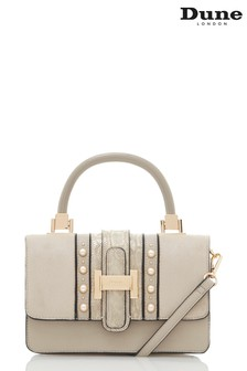 Dune Accessories Grey Small Shell Shoulder Bag