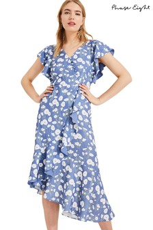 Phase Eight Blue Veronica Ditsy Flower Dress