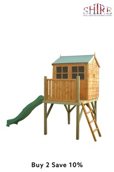 Dovecote Assembled Playhouse With Slide