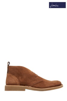 Joules Tan Lynton Lace-Up Suede Boot