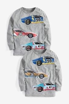 Car Sequin Long Sleeve T-Shirt (3-16yrs)