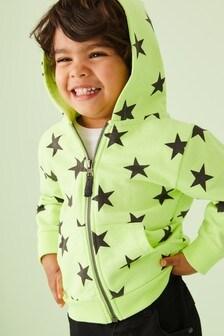 Sweat à capuche zippé à imprimé étoile (3 mois - 7 ans)