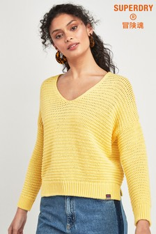 Superdry Yellow Knitted Jumper