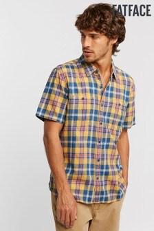 FatFace Yellow Westville Check Shirt