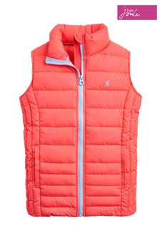 Joules Pink Croft Girls Packable Gilet
