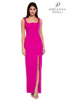 Adrianna Papell Cosmo Pink Lola Jersey Column Dress