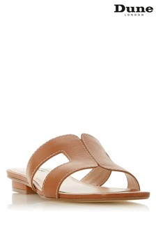 Dune Ladies Tan Wide Fit Smart Slider