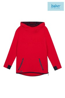 baker by Ted Baker Younger Boys Red Debossed Logo Hoody