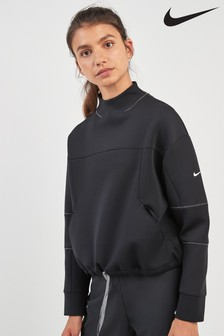 Nike Dri-FIT Black Long Sleeved Cropped Top