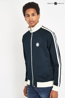 Pretty Green Navy Waring Contrast Panel Track Top