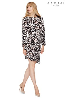 Damsel In A Dress Camel Carrera Animal Printed Dress