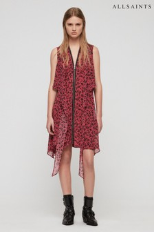 All Saints Pink Leopard Print Jayda Dress