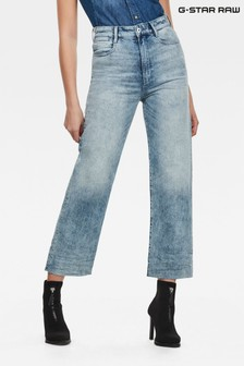 G-Star Blue Tedie Ultra High Straight Ankle Jeans