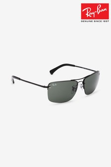 Ray-Ban® Rectangle Aviator Black Sunglasses
