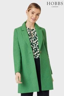 Hobbs Green Camellia Coat