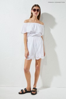 French Connection White Aadhira Playsuit