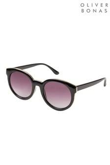 Oliver Bonas Black Rounded Sunglasses