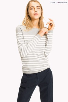 Tommy Hilfiger Grey Striped Ivy Sweater