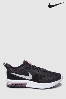 Nike Run Black/Silver Sequent 4 Trainers