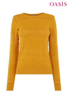 Oasis Yellow Amelia Textured Knit