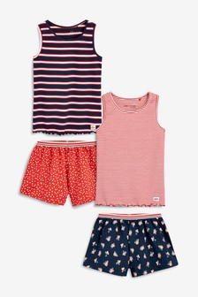 Stripe Short Pyjamas Two Pack (3-16yrs)