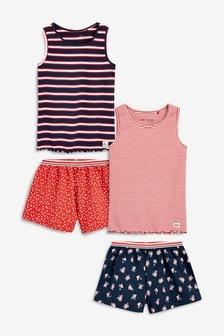 Набор из двух пижам в полоску с шортами (3-16 лет)