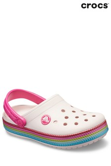 Crocs™ White Sequin Band Clog