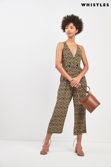 Whistles Lara Zig Zag Button Jumpsuit
