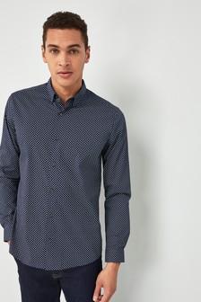 Paisley Long Sleeve Print Shirt