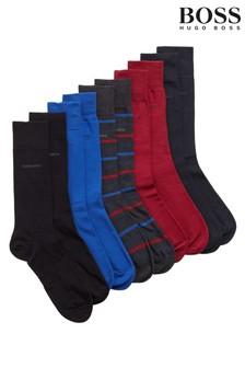 BOSS Blue Socks 5 Pack Gift Set