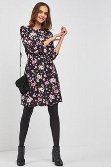 Sukienka z nadrukiem w kwiaty