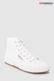Superga® White 2750 Cotu High Trainer