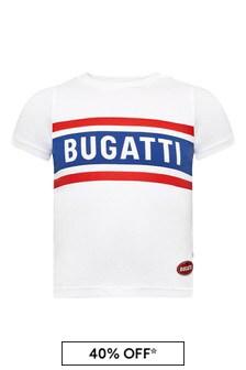 Bugatti Baby Boys White Cotton T-Shirt