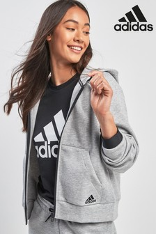 adidas Must Have Logo Zip Through Hoody